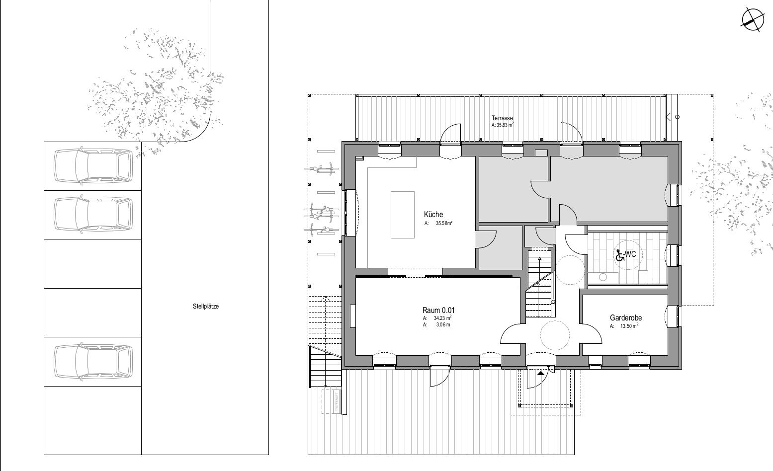 Grundriss Erdgeschoss Kinderbauernhaus